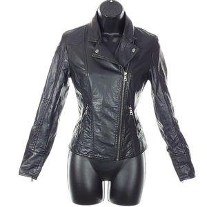 REITMANS Faux Leather Moto Jacket Asymmetrical Zip